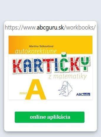 APLIKÁCIA Autokorektívne kartičky A