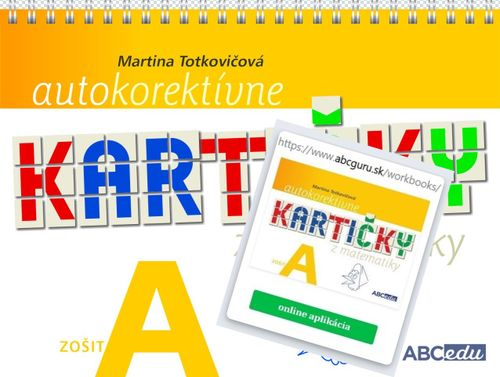 Sada Autokorektívne kartičky A, zošit + aplikácia