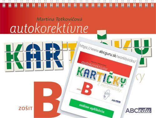 Sada Autokorektívne kartičky B, zošit + aplikácia